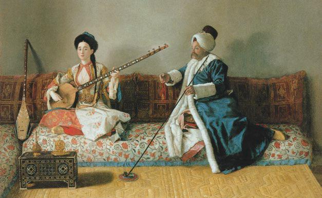 M. Levett and Mlle Glavani in Turkish Costume. © Musée du Louvre