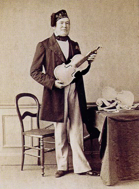Vuillaume in his workshop, 1860