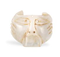 56 A Greco-Scythian Jade Lion-Head Harness Attachment