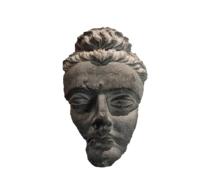 82 Gandhara Grey Schist Head of the Buddha