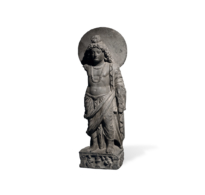 83 A Superb Grey Schist Statue of Prince Siddhartha