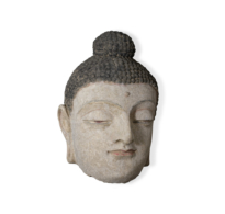 86 large stucco Buddha head