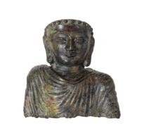 88 A Unique Gandhara Bronze Mask of Sakyamuni