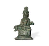 90 A Bronze Seated Siddhartha