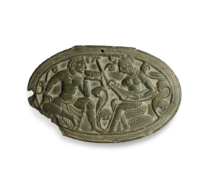 109 A Hephthalite Green Phyllite Oval Plaque