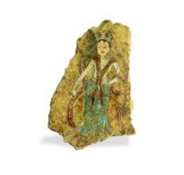 116 Stucco Fragment showing a Standing Apsara