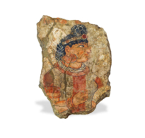 117 Stucco Fragment showing a Queen wearing a diadem