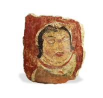 120 Stucco Fragment showing a Woman's Head