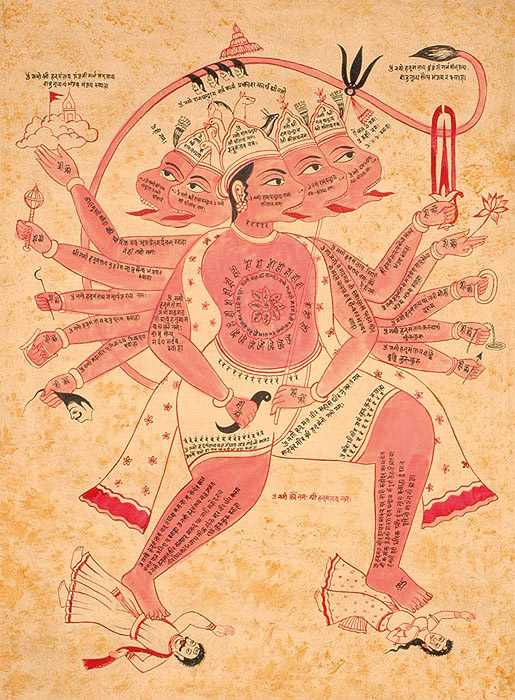 134 Tantric Hanuman