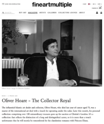 fineartmultiple - Oliver Hoare, the Collector Royal