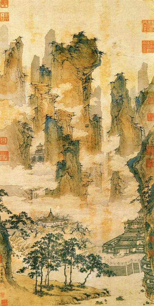 Pavilions in the Mountains of the Immortals, Qiu Ying (1494–1552), National Palace Museum, Taipei