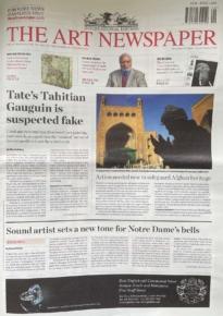 The Art Newspaper cover Sept 2021
