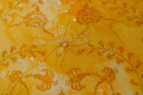 Close up of Simon Peers' Spider Silk designs at The Natural World exhibition, Oliver Hoare Ltd