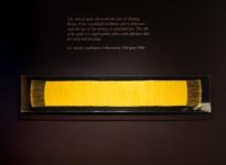Spider Silk satin weave shawl at The Natural World exhibition, Oliver Hoare Ltd