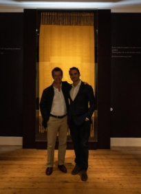 Damian Hoare and Simon Peers at The Natural World exhibition, Oliver Hoare Ltd