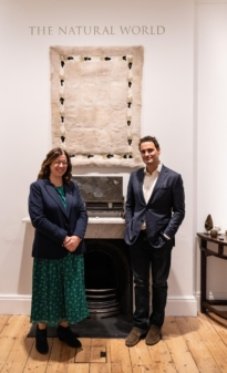 Damian Hoare and Ann Corne at The Natural World exhibition, Oliver Hoare Ltd